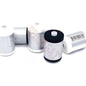Konac za šivaće mašine 100% pamuk 1000m crne i bele boje